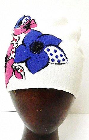 шапка 69%вискоза -24%шерсть-7%полиэстер