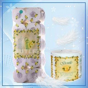 """""""Gentle"""" Трехслойная туалетная бумага  с ароматом «Европы» (в индивидуальной упаковке), 10 рулонов"""