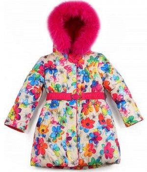 3704 Пальто для девочки зимнее
