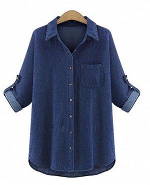 Рубашка х/б по джинсу.