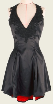 Коктельное платье с открытой спиной цвет: ЧЕРНЫЙ