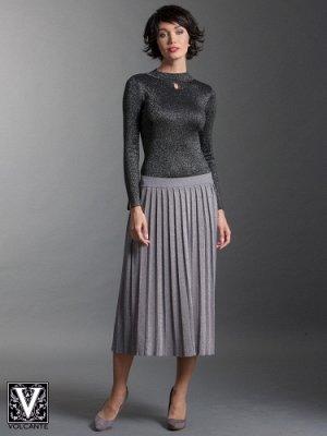 Стильная, зимняя юбка с люриксом.
