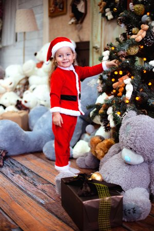Комплект (куртка, брюки и шапочка) Санта Клаус