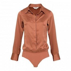 Атласная Рубашка-боди