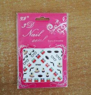 Наклейка Стильные и оригинальные наклейки для ногтей