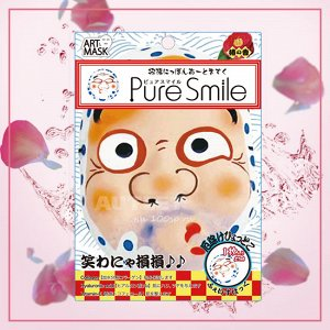 """""""PURE SMILE"""" Art Mask Концентрированная питательная маска для лица с экстр. цветов камелии, коллагеном, гиал. кислотой и вит. Е"""