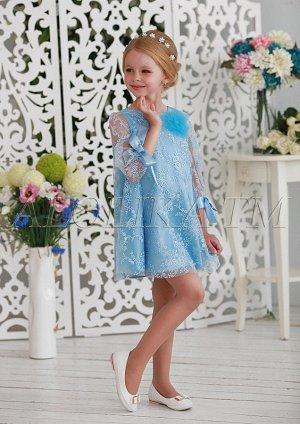 Очаровательное нарядное платье-трапеция для девочек