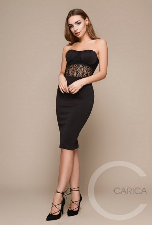 Платье Carica чёрное, эффектное