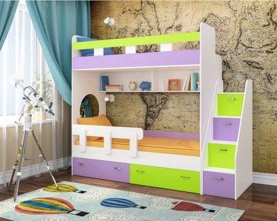 Кровать-чердак: для юных коллекционеров — Двухъярусные кровати — Детская