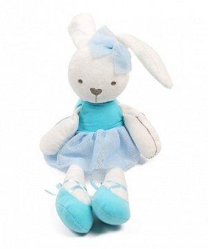 Мягкая игрушка зайчик-балерина голубой