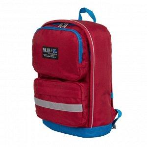 Рюкзак Детский легкий рюкзак. Основное отделение на молнии с карманом на резинке. Два передних кармана на молнии. Удобная мягкая спинка и регулируемые плечевые ремни с фиксацией на груди создают допол