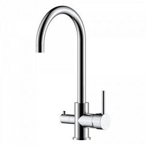 Z35-28 Смеситель одноручн. (35 мм) для кухни с выс. пов. изл. с подкл. к фильтру питьевой воды, хром