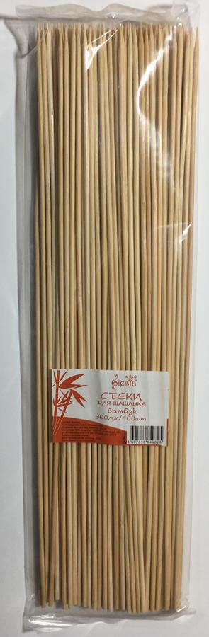Палочки для шашлыка 30 см, бамбук