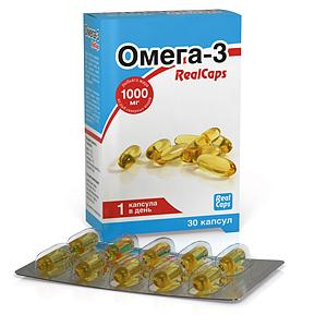Омега-3 RealCaps 1400 (1000)мг №30 капс.