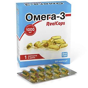 Омега-3 RealCaps 1400 (1000) мг №80  капс.