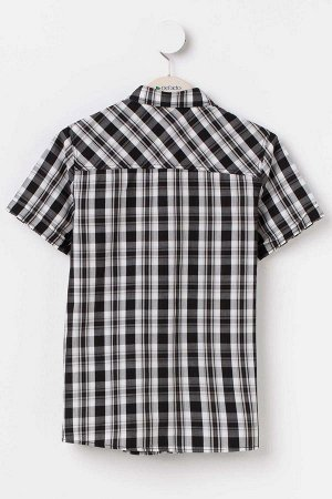 Клетчатая рубашка для мальчика с коротким рукавом