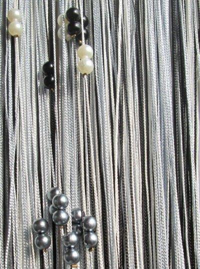 Нитяные шторы - Кисея! Огромный выбор, оптовая цена — Кисея радуга с жечужинами плотная — Шторы