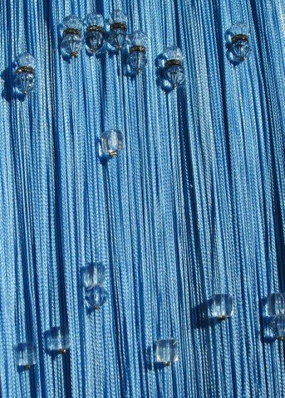 Нитяные шторы - Кисея! Огромный выбор, оптовая цена — Кисея стеклярус со стразами плотная — Шторы