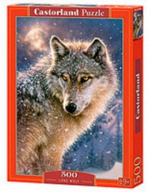 Пазлы 500 Одинокий волк