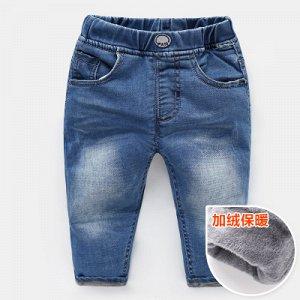 Утеплённые джинсы. Рост 100 см