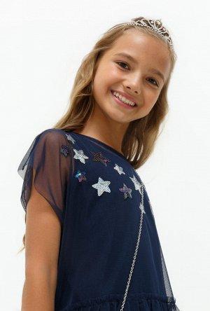 Блузка детская для девочек Toffee темно-синий