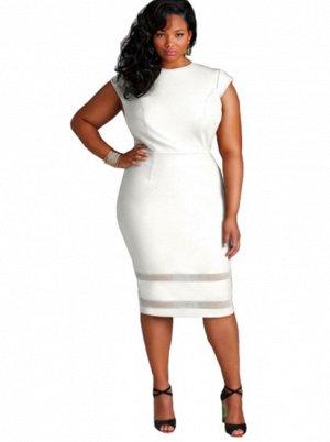 Платье с короткими рукавами цвет: БЕЛЫЙ