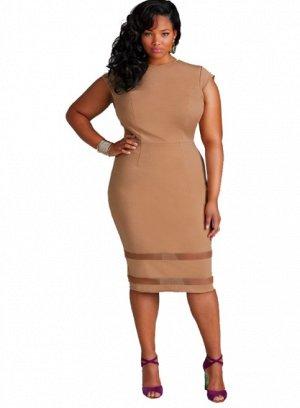 Платье с короткими рукавами цвет: ХАКИ