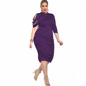 Платье приталенное цвет: ФИОЛЕТОВЫЙ