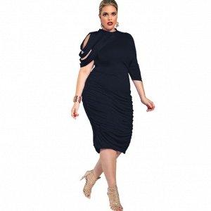 Платье приталенное цвет: ЧЕРНЫЙ