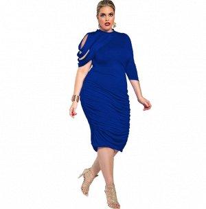 Платье приталенное цвет: СИНИЙ
