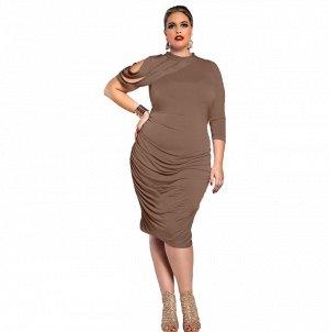 Платье приталенное цвет: ХАКИ
