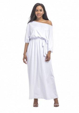 Платье длинное цвет: БЕЛЫЙ