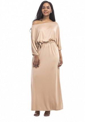 Платье длинное цвет: ХАКИ