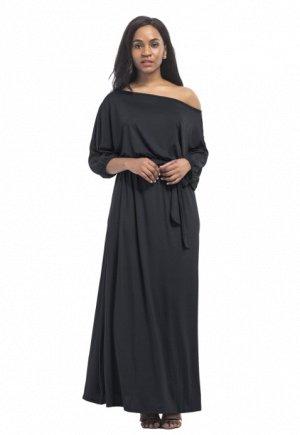 Платье длинное цвет: ЧЕРНЫЙ