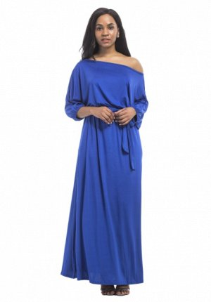 Платье длинное цвет: СИНИЙ