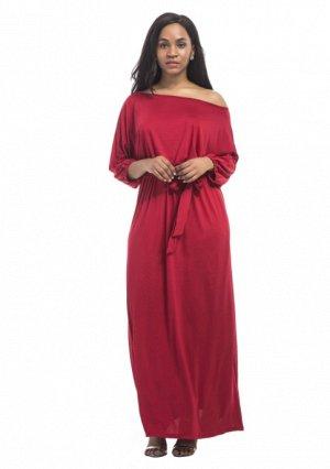 Платье длинное цвет: КРАСНЫЙ