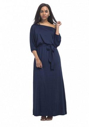 Платье длинное цвет: ТЕМНО-СИНИЙ