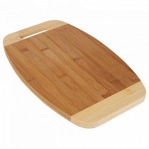 РД-00007 Доска разделочная  из бамбука (12) 35*22*1,5