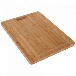 РД-00005 Доска разделочная  из бамбука (12) 34*26*1,8