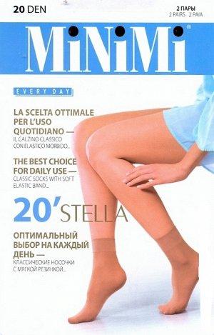 Носки полиамид 96%, эластан 4% Описание Тонкие матовые носки тм MiNiMi STELLA 20 den с укрепленным мыском, с комфортной резинкой, 2 пары в упаковке. Цвета производителя: карамельный - Caramello; бежев