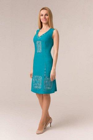 """Сарафан женский """"Маленькое платье"""" модель 401/2 бирюза"""