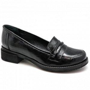 Туфли натуральная масляная кожа/черный
