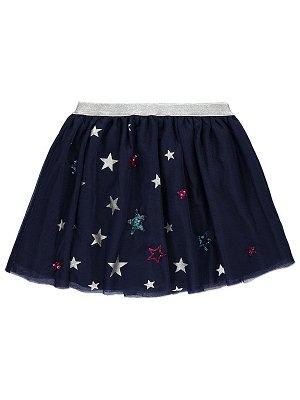 Embellished Star Print Skirt