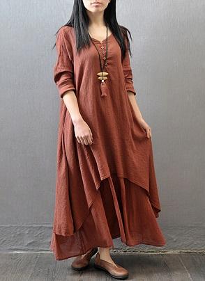 Платье свободного кроя с длинными рукавами цвет: КРАСНЫЙ