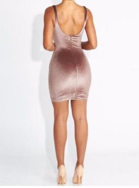 Платье с открытым декольте цвет: РОЗОВЫЙ