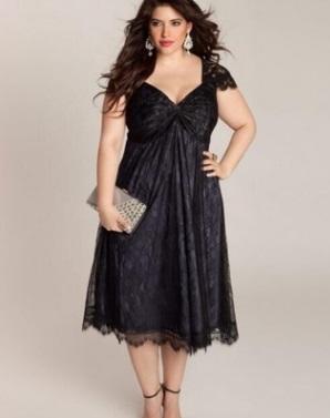 Платье с короткими рукавами и открытым декольте цвет: ЧЕРНЫЙ