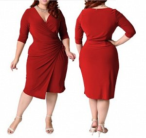 Платье приталенное средней длины цвет: КРАСНЫЙ