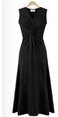 Платье приталенное без рукавов цвет: ЧЕРНЫЙ