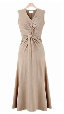 Платье приталенное без рукавов цвет: АБРИКОС