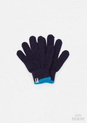 Перчатки детские для мальчиков Contamp темно-синий